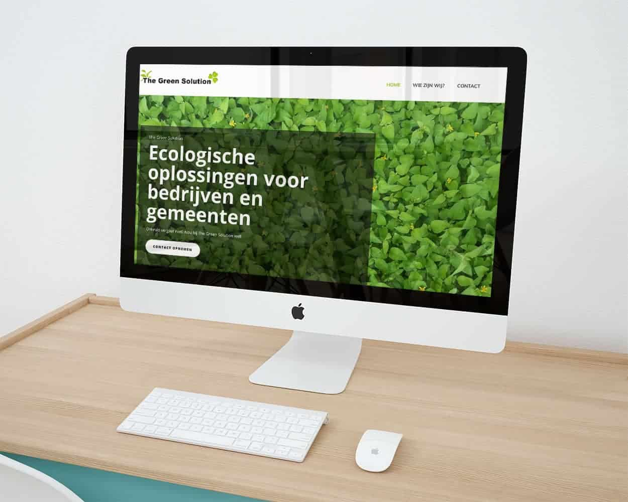The Green Solution website gebouwd door Creative Team