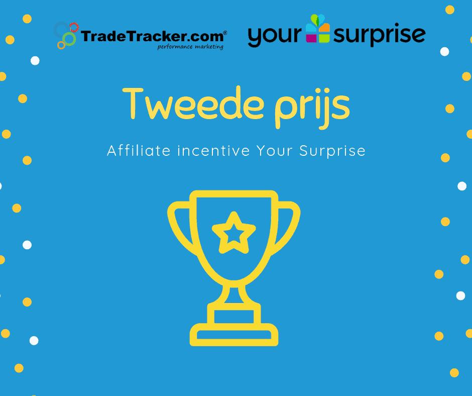 Affiliate prijs gewonnen uit handen van Trade Tracker