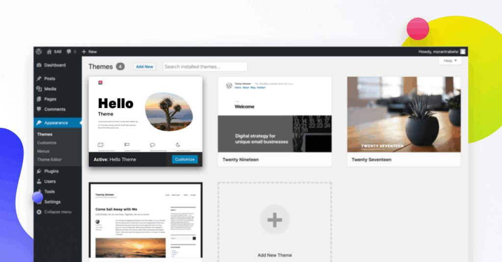 Hello thema voor WordPress