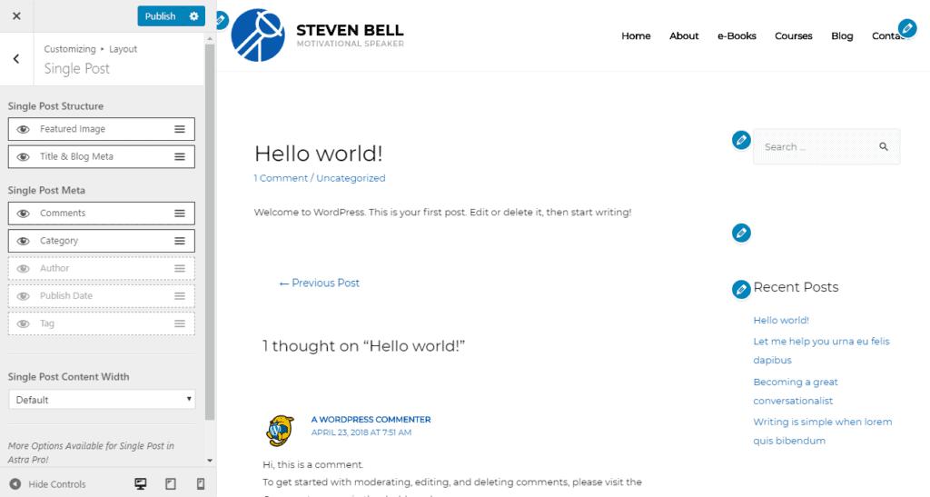 hoe bouw je een blog met elementor